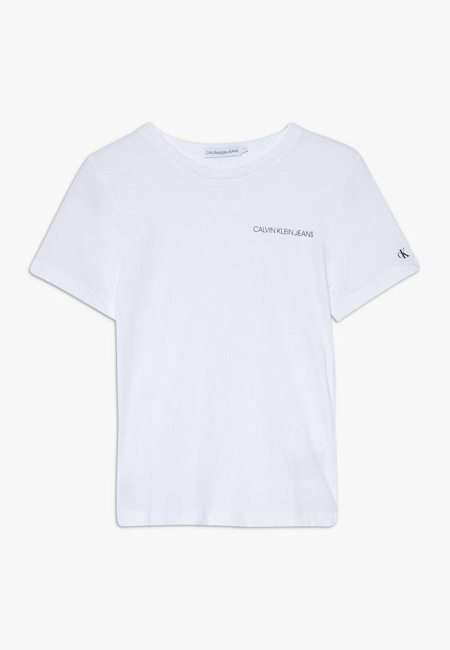 CHEST LOGO - T-shirt basique - white
