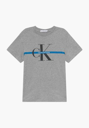 MONOGRAM STRIPE - T-shirts med print - grey