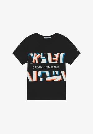 LETTER - Print T-shirt - black
