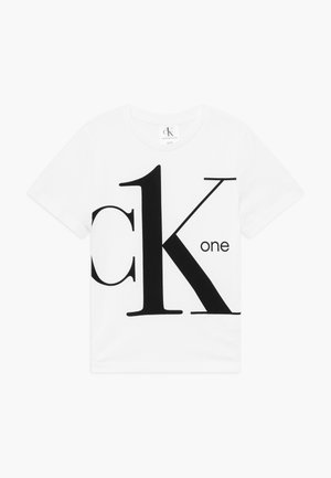 CK ONE - T-shirt z nadrukiem - white