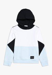 Calvin Klein Jeans - COLORBLOCK HOODIE - Mikina skapucí - black - 0