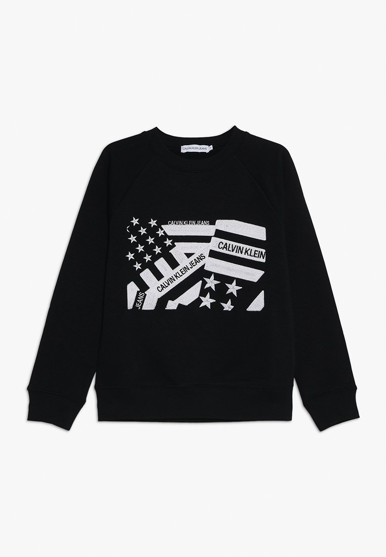 Calvin Klein Jeans - FLAG EMBROIDERY - Sweater - black