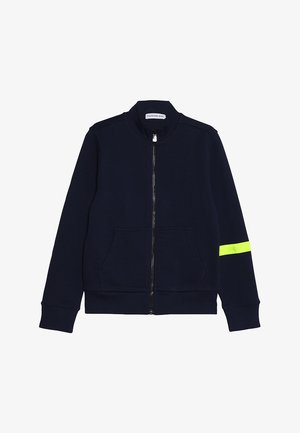 TAPE ZIP JACKET - Mikina na zip - blue