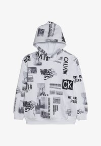 Calvin Klein Jeans - ALL OVER PRINT HOODIE - Mikina skapucí - white - 2