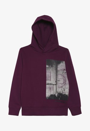 VARSITY PHOTO PRINT HOODIE - Hoodie - purple
