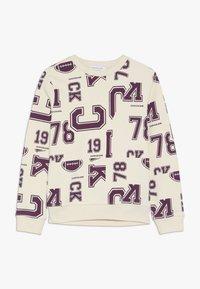 Calvin Klein Jeans - VARSITY - Mikina - beige - 0