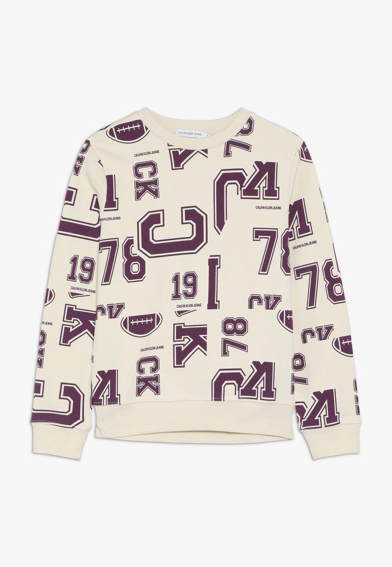 Calvin Klein Jeans - VARSITY - Sweatshirt - beige