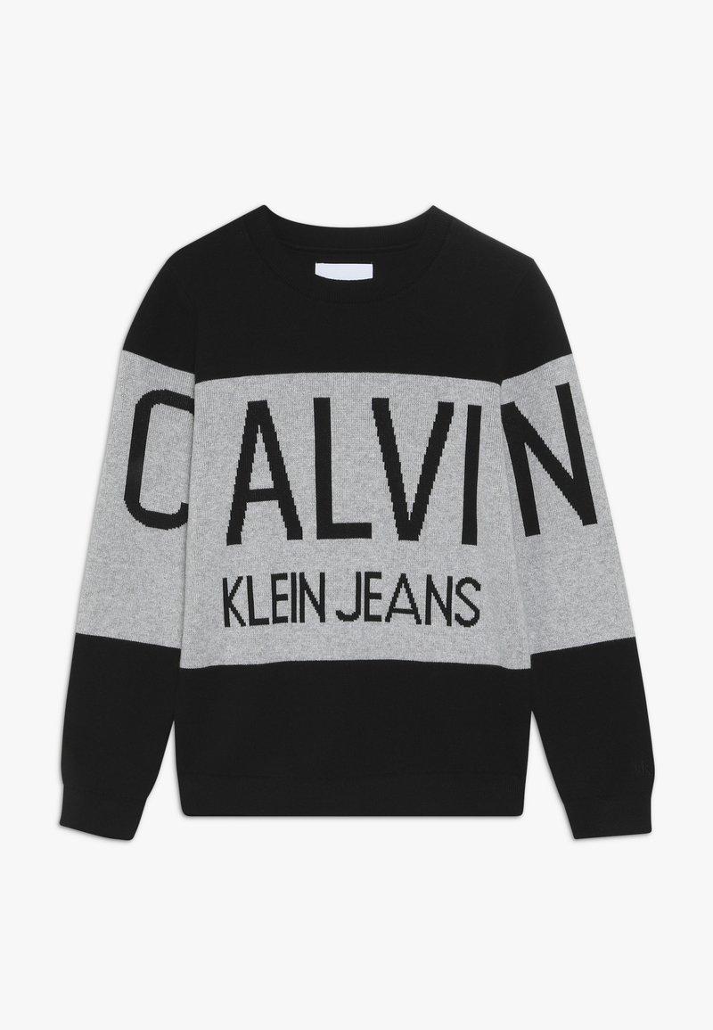 Calvin Klein Jeans - STAMP LOGO  - Trui - black