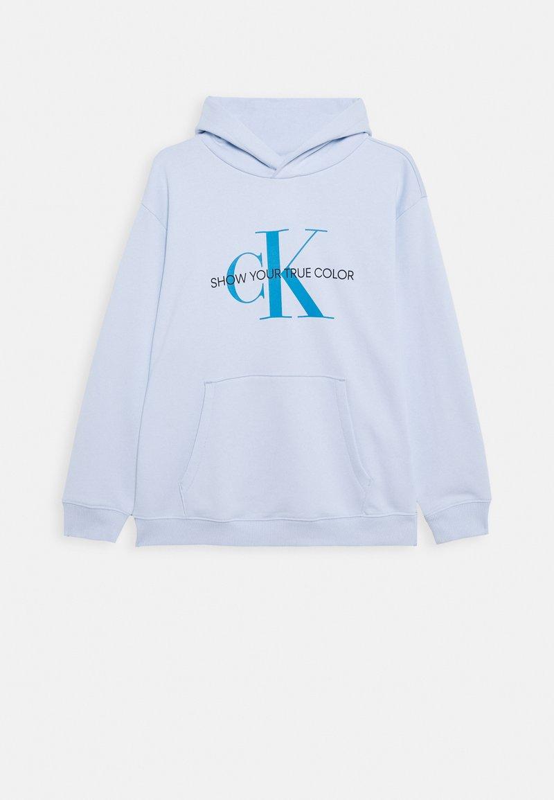 Calvin Klein Jeans - NATURAL DYE MONOGRAM HOODIE - Hoodie - blue