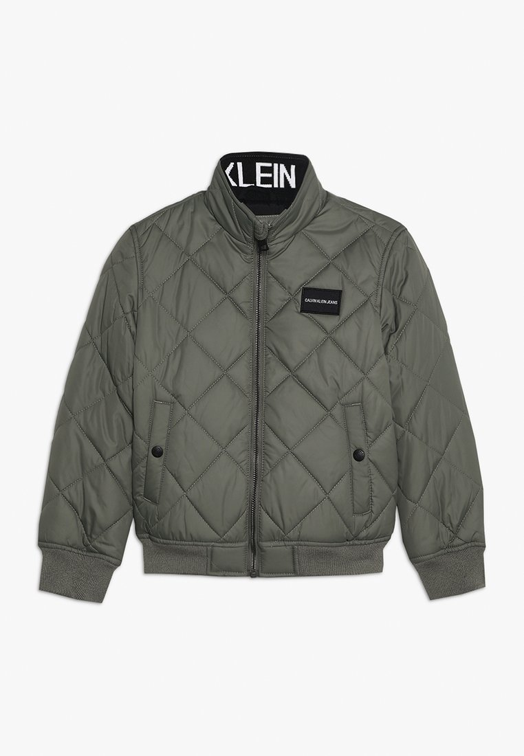 Calvin Klein Jeans - RECYCLED QUILTED PADDED - Light jacket - green