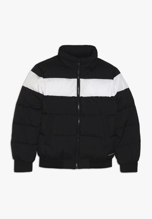COLOUR BLOCK PUFFER BOMBER - Winterjas - black