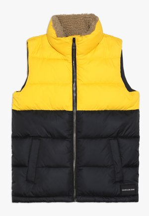 COLOUR BLOCK PUFFER VEST - Väst - black