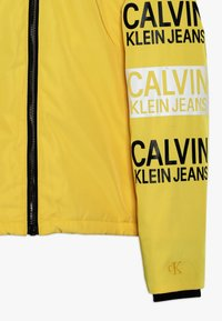 Calvin Klein Jeans - STAMP LOGO HOODED SHORT JACKET - Talvitakki - yellow - 3