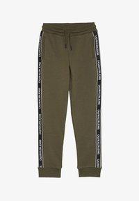 Calvin Klein Jeans - SIDE LOGO TAPE - Teplákové kalhoty - green - 2