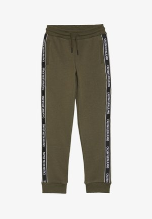 SIDE LOGO TAPE - Tracksuit bottoms - green