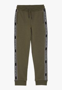 Calvin Klein Jeans - SIDE LOGO TAPE - Tracksuit bottoms - green - 0