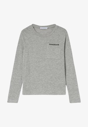 POCKET WAFFLE - Long sleeved top - grey