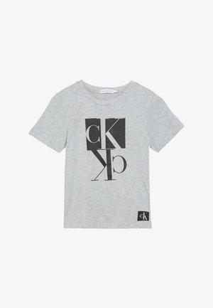 MIRROR MONOGRAM - Camiseta estampada - grey