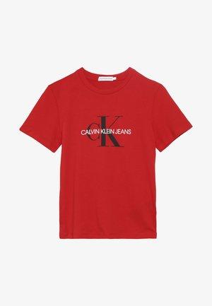 MONOGRAM LOGO  - Print T-shirt - red