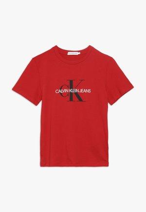MONOGRAM LOGO  - T-shirt z nadrukiem - red