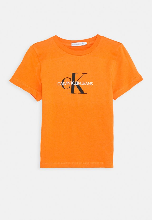 MONOGRAM LOGO UNISEX - Camiseta estampada - orange