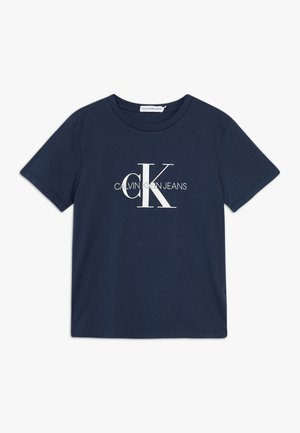 MONOGRAM LOGO  - Print T-shirt - blue