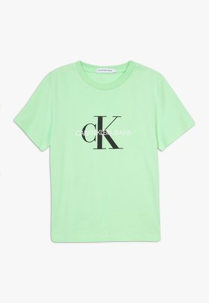 MONOGRAM LOGO  - Print T-shirt - green
