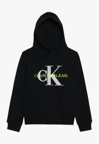 Calvin Klein Jeans - MONOGRAM HOODIE - Mikina skapucí - black - 0
