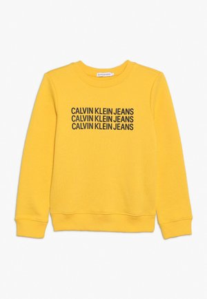 TRIPLE LOGO - Sweater - yellow