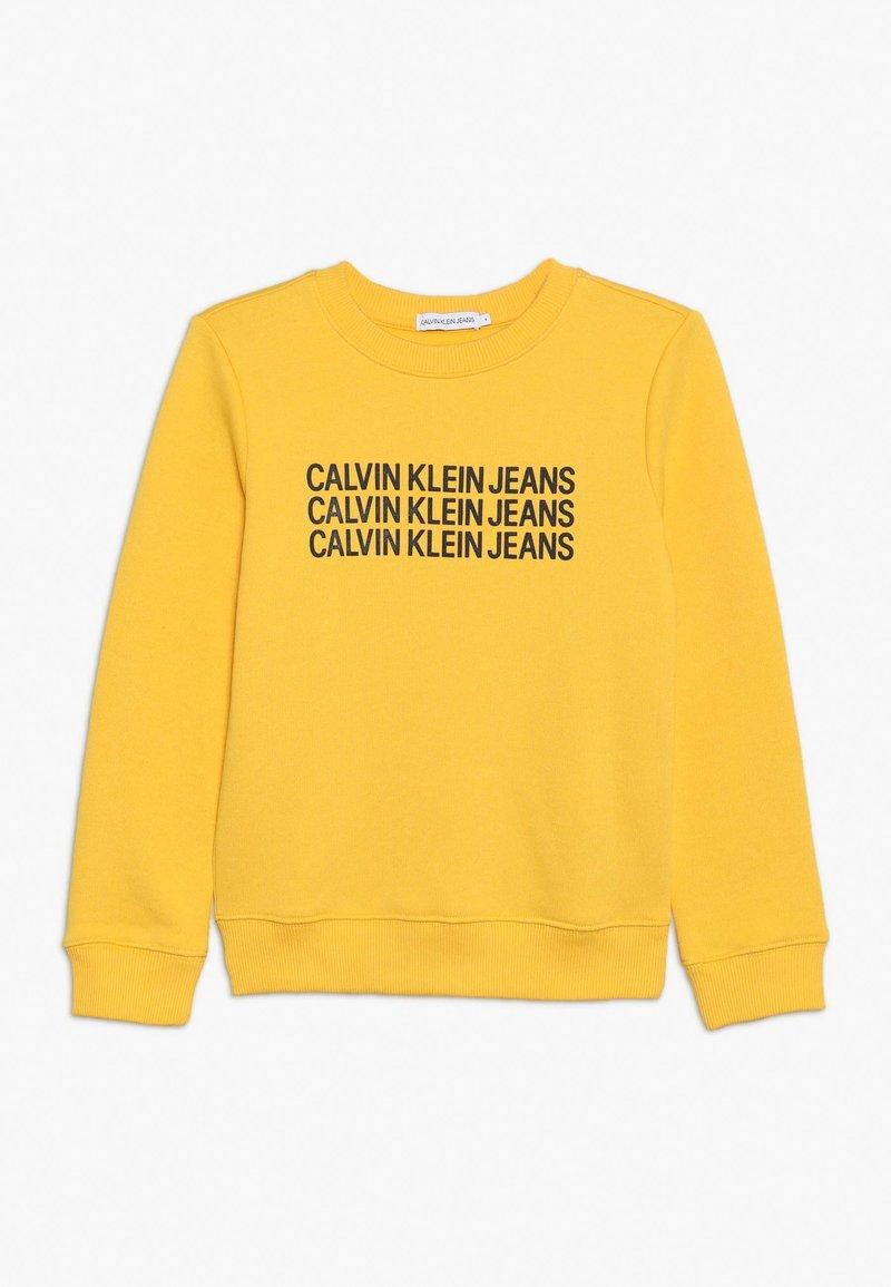 Calvin Klein Jeans - TRIPLE LOGO - Sweatshirt - yellow