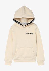 Calvin Klein Jeans - LOGO TAPE HOODIE - Hoodie - beige - 2