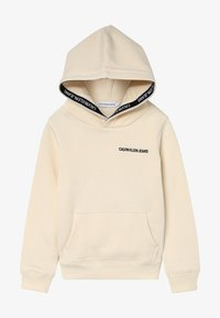Calvin Klein Jeans - LOGO TAPE HOODIE - Huppari - beige - 2