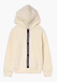 Calvin Klein Jeans - LOGO TAPE HOODIE - Hoodie - beige - 1