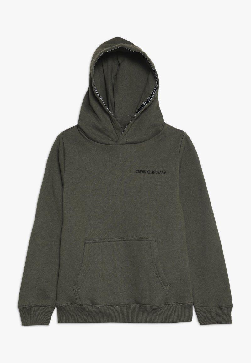 Calvin Klein Jeans - LOGO TAPE HOODIE - Sweat à capuche - green