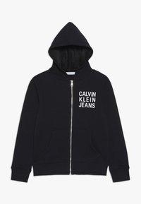 Calvin Klein Jeans - SOFT LOGO ZIP HOODIE - veste en sweat zippée - black - 0