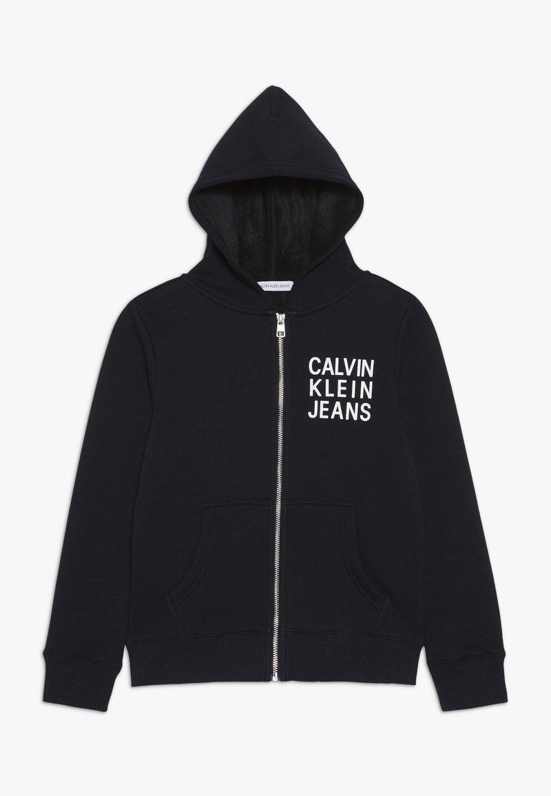 Calvin Klein Jeans - SOFT LOGO ZIP HOODIE - veste en sweat zippée - black