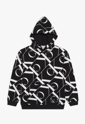 MIRROR MONOGRAM HOODIE - Jersey con capucha - black