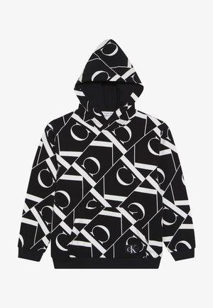 MIRROR MONOGRAM HOODIE - Bluza z kapturem - black