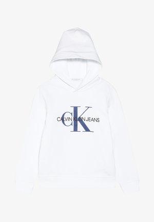 MONOGRAM HOODIE - Bluza z kapturem - white