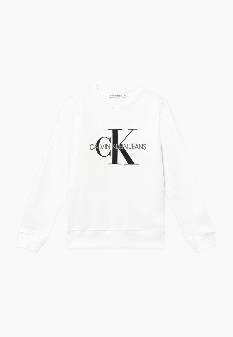 Calvin Klein Jeans - MONOGRAM LOGO  - Sweatshirt - white
