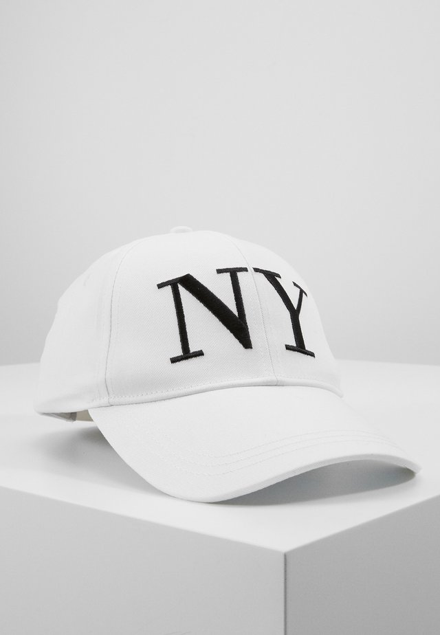 EMBROYDERED - Caps - white