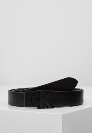 SKINNY MONOGRAM - Belt - black
