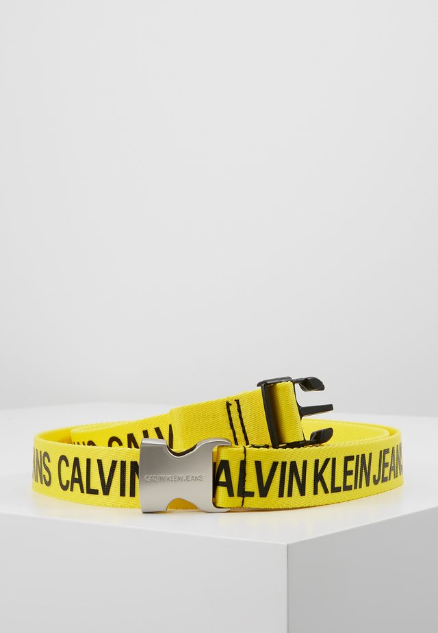 LOGO TAPE CLIP BELT  - Bælter - yellow