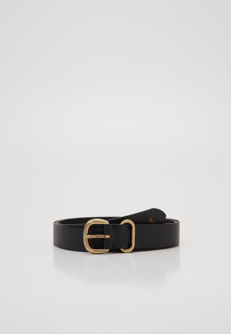 Calvin Klein Jeans - ROUND CLASSIC - Belt - black