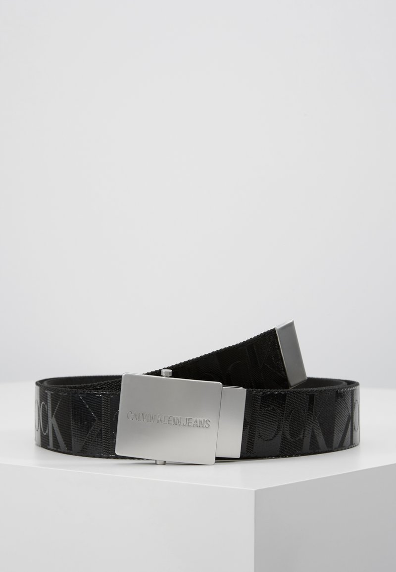 Calvin Klein Jeans - PLAQUE CANVAS BELT  - Pásek - grey