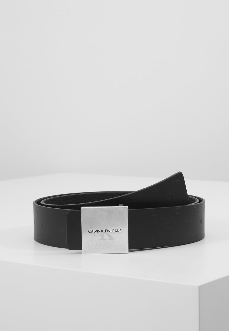 Calvin Klein Jeans - UNIFORM PLAQUE - Vyö - black