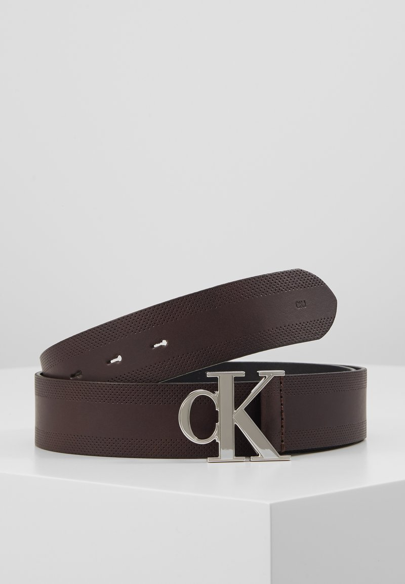 Calvin Klein Jeans - GYM CLASS MONOGRAM 35MM - Belt - brown