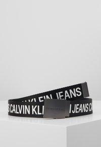 Calvin Klein Jeans - LOGO TAPE PLAQUE BELT - Cintura - black - 0