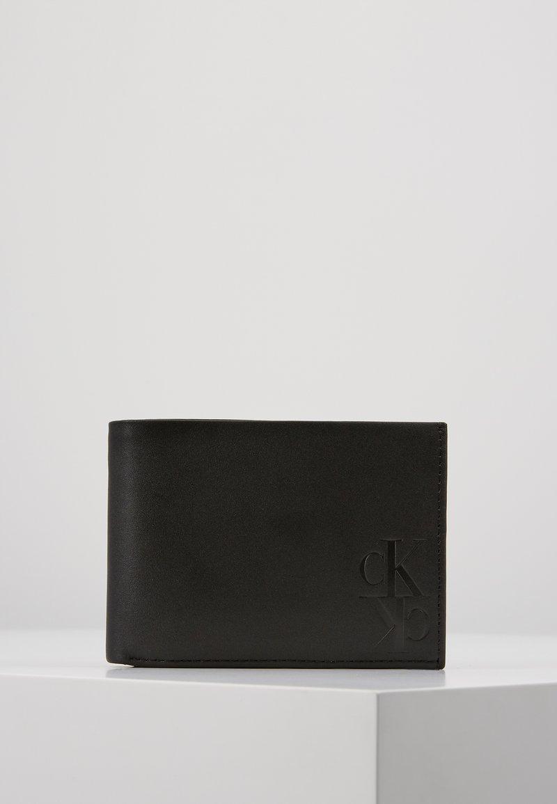 Calvin Klein Jeans - MIRROR MONOGRAM BILLFOLD EXTRA - Wallet - black