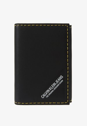 SMOOTH STITCH CARD CASE - Peněženka - black